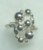 Sterling Silver Cluster Bead Ring